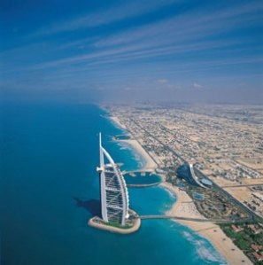 Burj Al Arab, Dubai worlds only 7 star hotel.